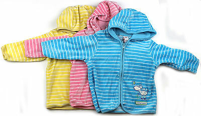 Babies Velour Hoody Pink Blue Yellow Size 00 0 Little Lamb Jacket New!