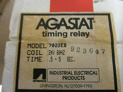 Agastat Timing Relay 7022Eb