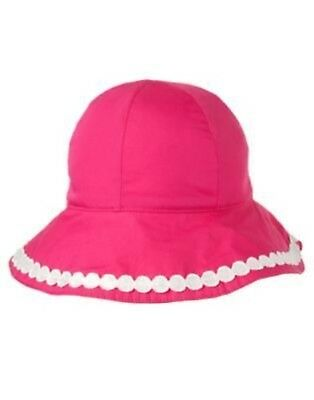 GYMBOREE FLAMINGO FLOWERS PINK w/ WHITE DOT BRIM HAT 0 3 6 12 18 24 NWT