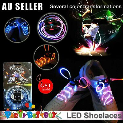 LED Flash Luminous Shoe Lace Shoelaces Platube Laces Multi Colour changing Party