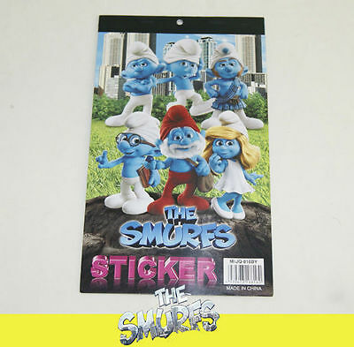 6 Pages of THE SMURFS SMURFETTE PAPA GUTSY BRAINY CLUMSY KID STICKER BOOK DL06a