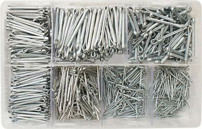 "1000 x ASSORTED BOX SPLIT PINS PINS COTTER KEY 1/16"" - 5/32"" RETAINING    AT17"