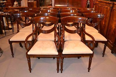 Grand Set 14 Regency Style Drape Dining Chairs