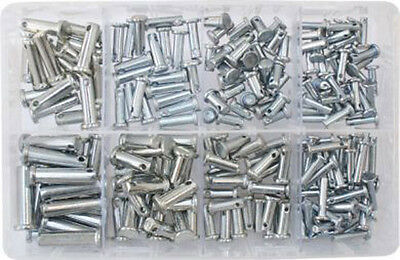 Assorted Clevis Pins Link Hinge Pin Cotter Split  R Clip Clips  Qty 200  At29