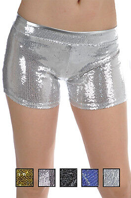 Glittering, Sparkling Sequin Detail  Stretch  Hot Short Pants