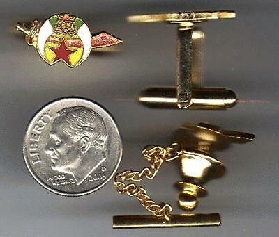 Custom Made Shriners Tie Tack & Cuff Links Set