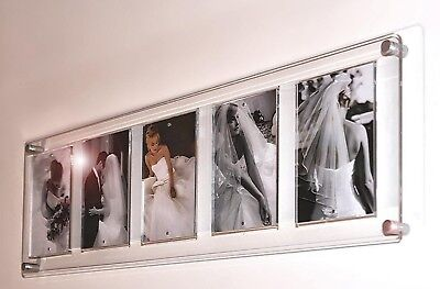 """5x 7 x 5 """" Magnetic Picture Photo multi frame 5 x 7 Cheshire Acrylic all colors"""