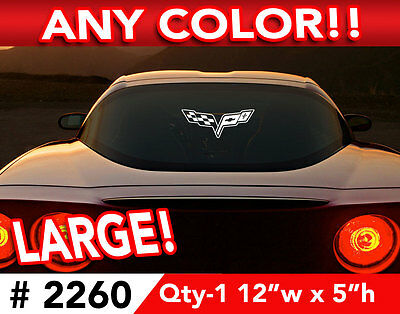 """CORVETTE C6  LARGE CAR OR WALL DECAL STICKER 12""""w x 5""""h ANY 1 Color"""