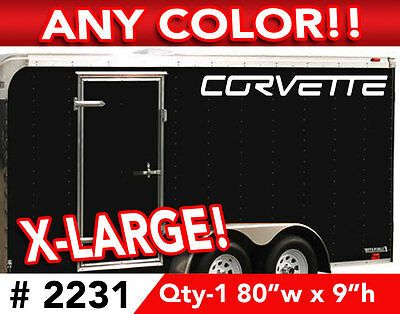 """CORVETTE WORD C6  X-LARGE CAR OR WALL DECAL STICKER 80""""w x 9""""h ANY 1 Color"""