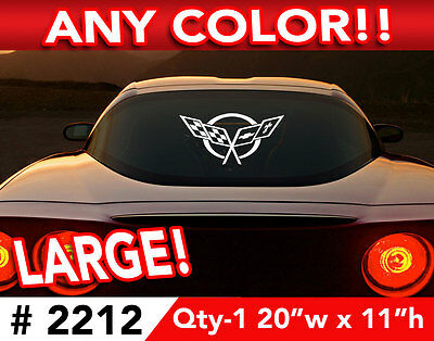 """CORVETTE C5  X-LARGE CAR OR WALL DECAL STICKER 20""""w x 11""""h ANY 1 Color"""