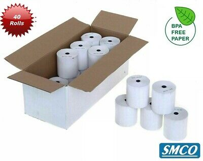 SMCO 57x40x12.7mm  Thermal Paper Till Rolls 40 Rolls Credit Card Rolls
