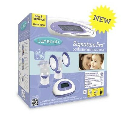 Lansinoh Signature Pro Double Electric Breast Pump #53050, New