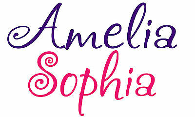 Personalized Custom Name Kids wall art vinyl decal Removable boy girl nursery