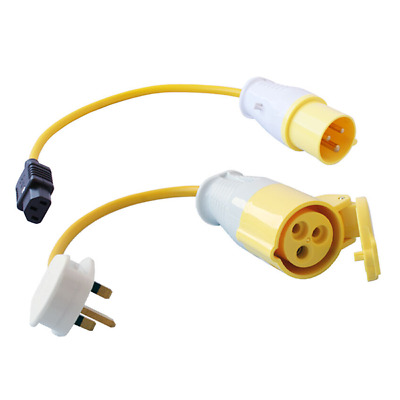 PAT Test Adaptor Set - 110volt 16amp Plug and Socket Adaptor Set