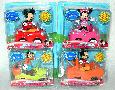 Disney Mickey Mouse or Minnie Mouse Clubhouse Figure & Car Set - Assorted - BN&S