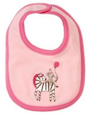 Gymboree Brand New Baby Zebra & Monkey Reversible Bib Nwt
