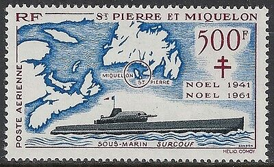 St.Pierre&Miquelon stamps 1962 YV Airmail 28  MNH VF
