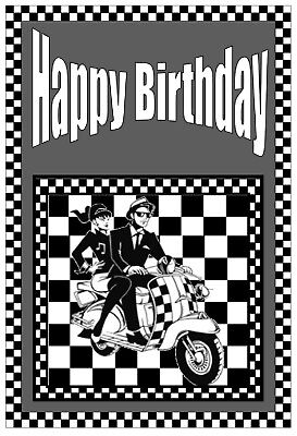 Ska - Birthday Card - Brand New
