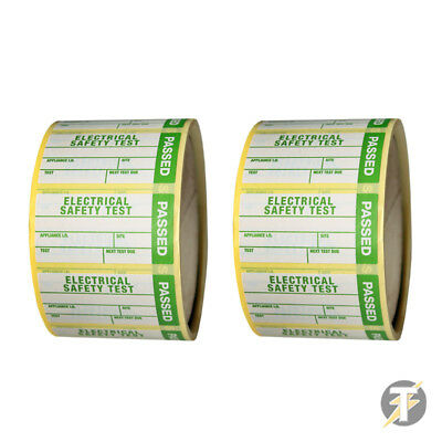 PAT Tester PASS Labels - Two rolls of 500