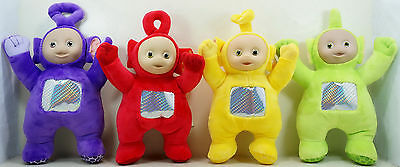 "10"" Teletubbies Laa Laa Po Tinky Winky Dipsy Plush Toy Doll Set 4pc"