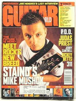 GUITAR WORLD MAGAZINE MIKE MUSHOK STAIND LINKIN PARK SYSTEM OF A DOWN STATIC X