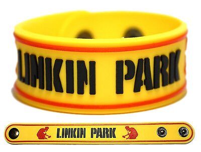 LINKIN PARK Rubber Bracelet Wristband << Hybrid Theory >> Yellow