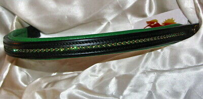FSS Crystal Bling FOREST KELLY IRISH GREEN Browband Custom Made Sparkle NEW