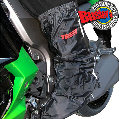 Tech 7 Waterproof Motorcycle ATV Quad Overboots Black Over Boots Size Small S