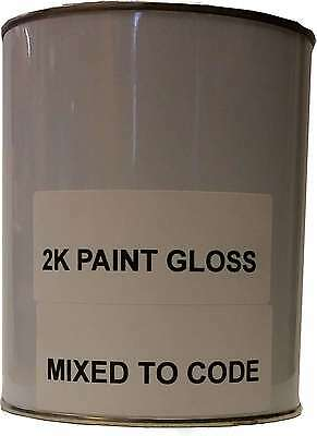 2 PACK 2K Car Body Paint GLOSS COLOUR MIXED TO CODE TWO TWIN ANY COLOUR