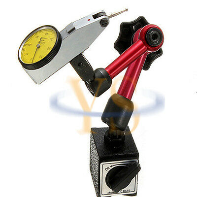 Special  Magnetic  Base & 0-40-0 Test Dial  Indicator Measure Tools New