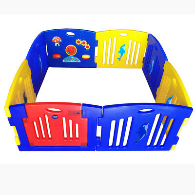 New Baby Kids Interactive Playpen Play pen with Gate safety Gate