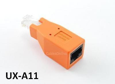 Cat6/Cat5e Ethernet RJ45 Male/Female CrossOver Adapter, CablesOnline UX-A11