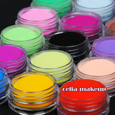 18 Color acrylic Powder liquid Glitter Nail Art Tool Kit UV Dust Deco Sets 1020