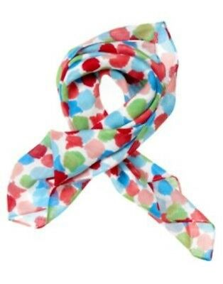 GYMBOREE BURST OF SPRING WATERCOLOR DOT SUMMER SCARF 1-SIZE NWT