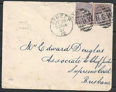 New South Wales covers 1897 cover Sydney to Brisbane