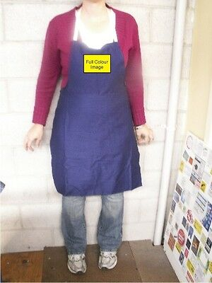 Navy Blue Kitchen Aprons (10) printed full colour