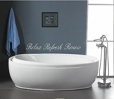 Ordinaire Relax Refresh Renew Bathroom Wall Quote Art Vinyl Decal Sticker Removable