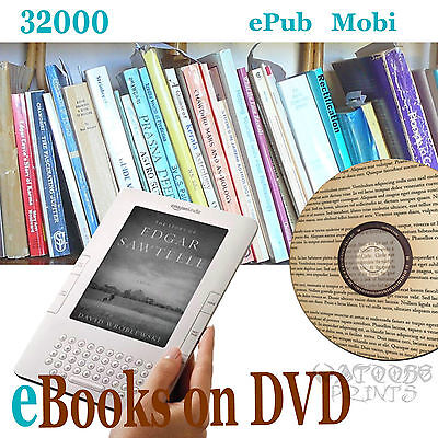 KINDLE eBOOKS 32,000 for E Reader in MOBI, PDF, 2 DVDs eReader novels E Books