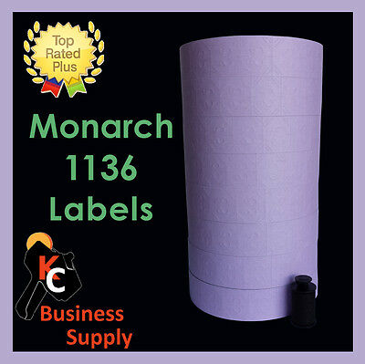 Labels for Monarch 1136 price gun Lavender - 8 rolls-Made in USA- Free Shipping