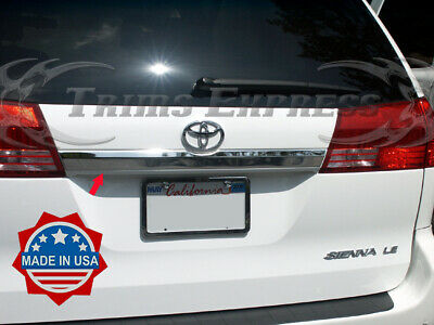 04-2010 Toyota Sienna Rear Door Cover Trim Molding Accent Trunk Stainless Steel