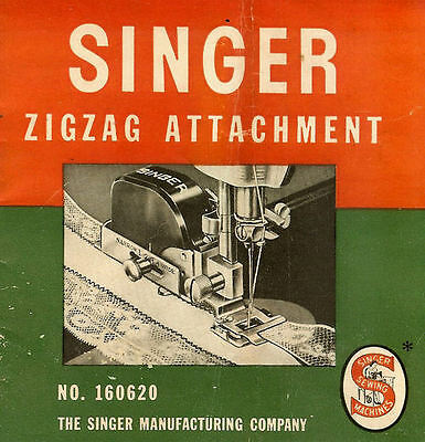 Singer Zigzag Attachment No. 160620 Instructions Manual This is a CD in pdf form