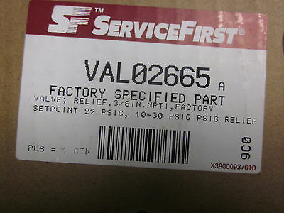 Trane / ServiceFirst Relief Valve - Part # VAL02665 (NEW)