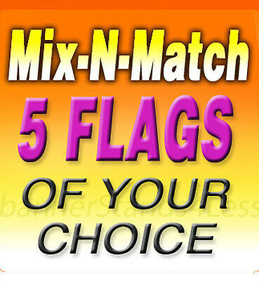 Swooper 11.5' Feather Flag Banner Sign MIX N MATCH Wholesale 5 Pack (Flags Only)