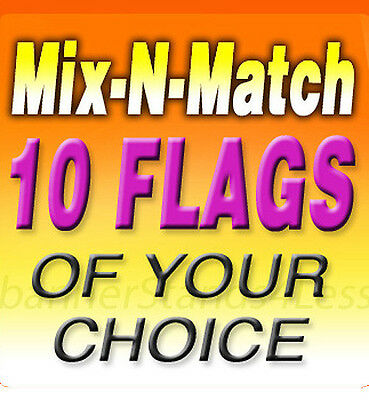 Swooper 15' Feather Flag Banner Sign MIX-N-MATCH Wholesale- 10 Pack (Flags Only)