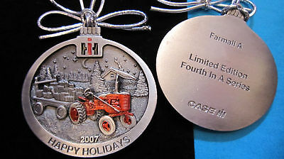 2007 Case IH International Harvester Farmall A Tractor Pewter Ornament #4 Series