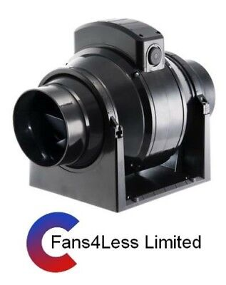 """Manrose In Line Extractor Fan (Grow Rooms,Tents, Hydroponics) 4"""" dia 245m3/hour"""