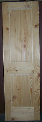 "Knotty Pine 2 Panel Interior Door Raised Panel V-Grooved Panels 24""x80""x1-3/8"""