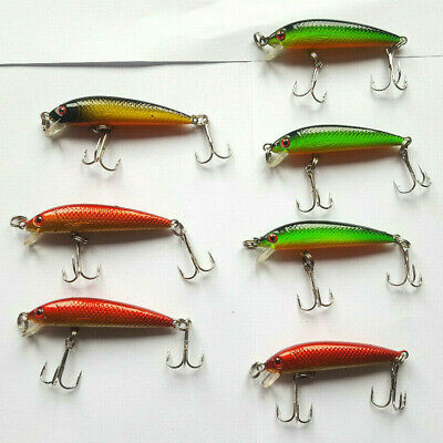 7 x ESCHE ARTIFICIALI MINNOW 5 cm RATTLING no rapala TROTA BASS LOTTO SINKING