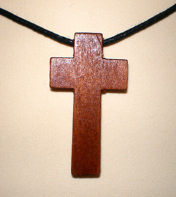2 pcs Consecrated Genuine Olive Wood Cross Church of the Holy Sepulchre