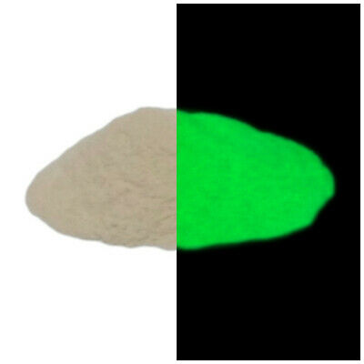 Glow in the dark GREEN luminescent luminous high quality pigment powder 20g